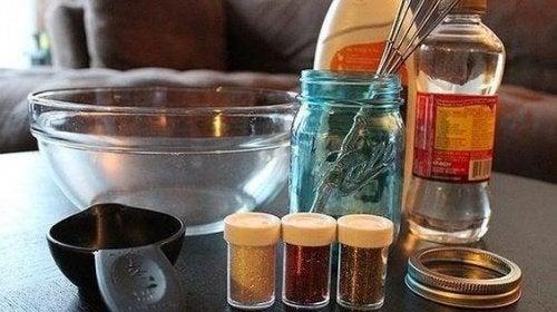 ingredienser til at lave en beroligende krukke