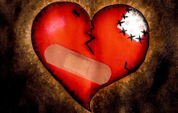 hjerte med plaster