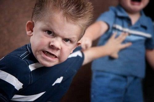 børn, som slår og bider