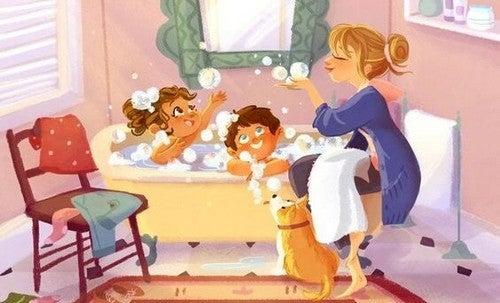 sæbebobler og badetid