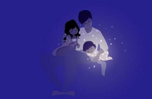 mor, far og baby