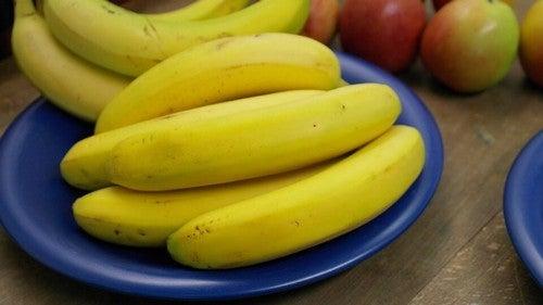 bananerne på tallerken