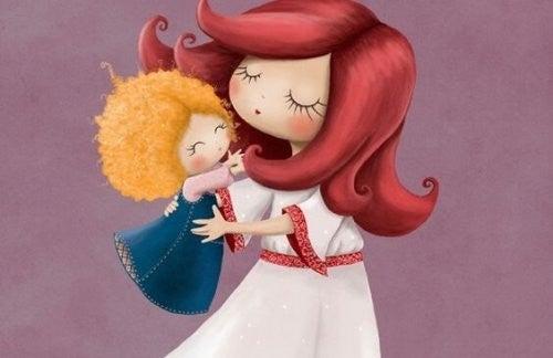 babyer elsker at holdes af mor
