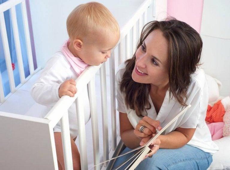 Baby udvikler sine sprogfærdigheder
