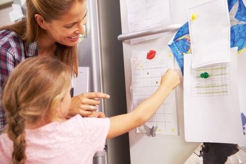 Mor lærer datter om sameksistensregler
