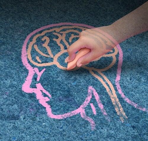 Barn tegner hjerne med Hjerne Øvelser for børn