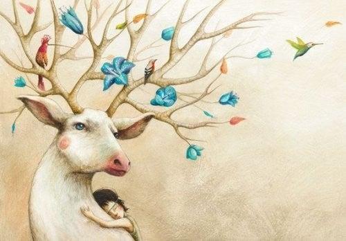 pige krammer rensdyr