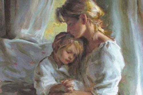 Mor kysser datter