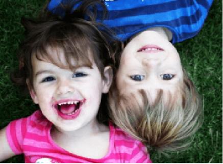 Børn der smiler