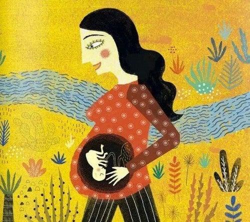 kvinde med baby i maven