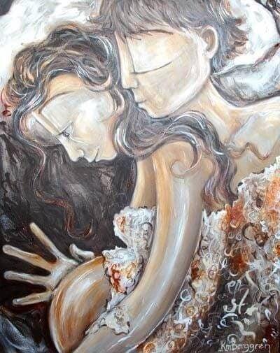 Maleri af gravid