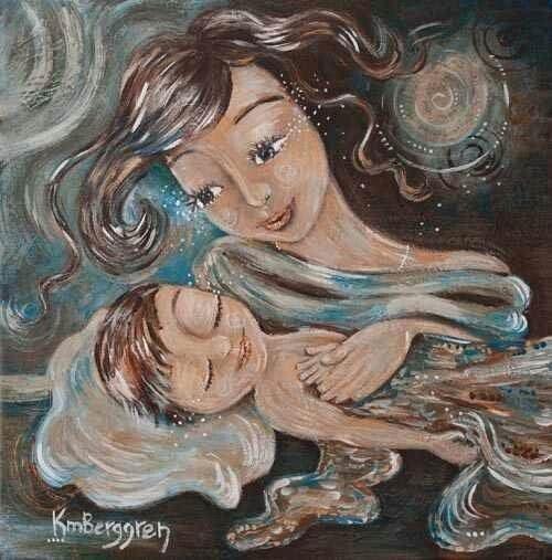 mor beundrer sin baby
