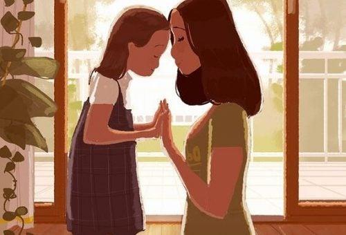 mor og datter - personligt velvære