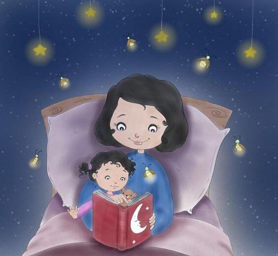 At læse godnathistorie
