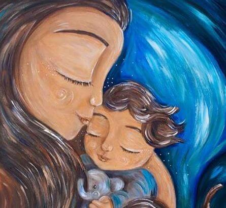 Mor og barn