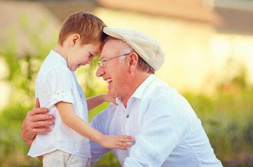 Bedstefar og barnebarn