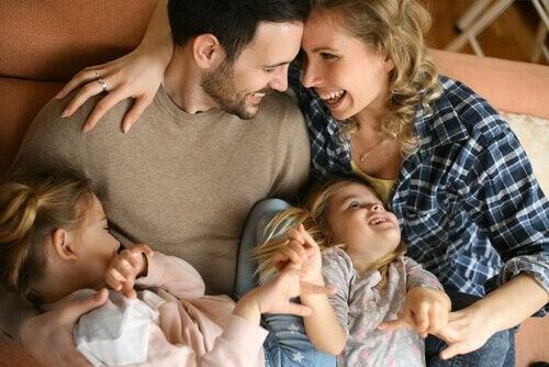 Min kone og mine børn