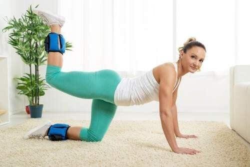 Vægte gør øvelserne mere intense