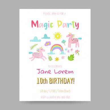 5 idéer til dit barns fødselsdagsinvitationer