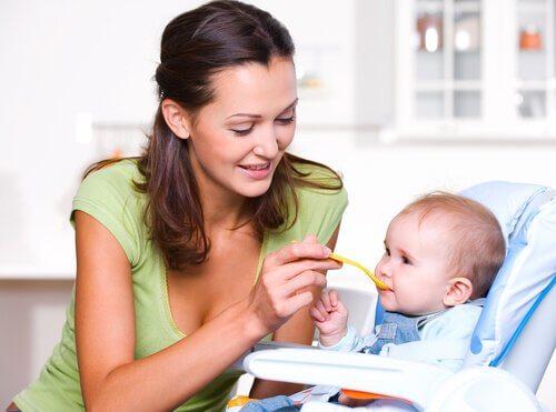Korrekt ernæring det første år af en babys liv