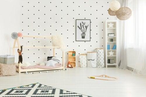 Montessori metoden til at dekorere et barns værelse