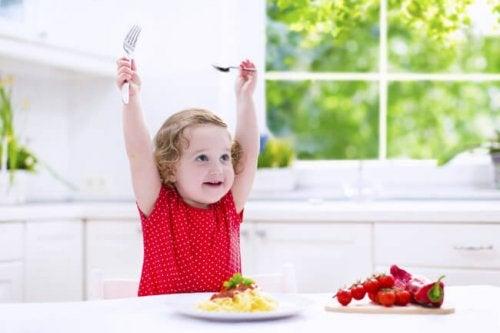 Pige der er glad for at spise