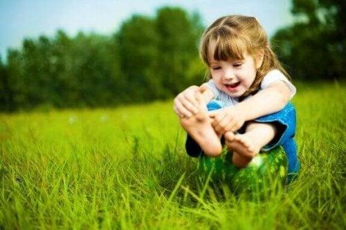 Hvordan man plejer børns fødder