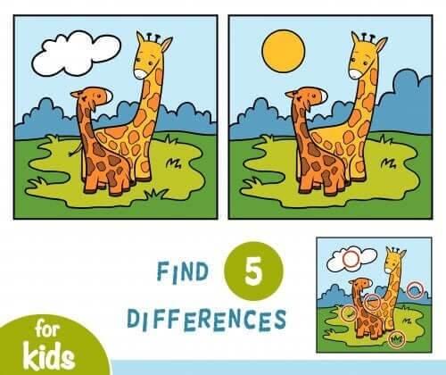 Find 5 fejl er blandt mentale øvelser for børn, som vil stimulere dem