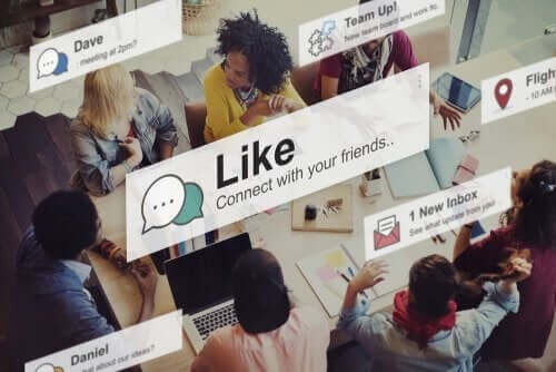 Notifikationer fra de sociale medier