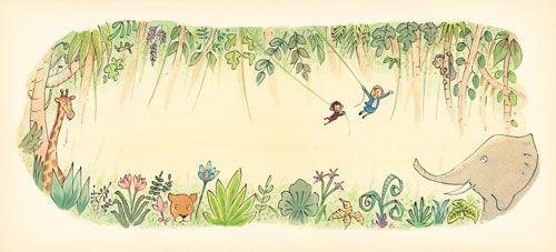tegning fra fortællingen om Tarzan