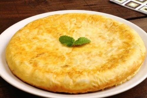 omelet på tallerken