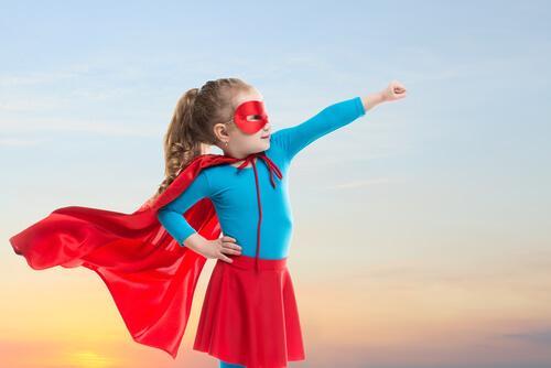 pige som superhelt