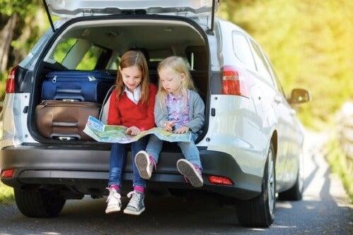 8 lege til at underholde børn på lange ture