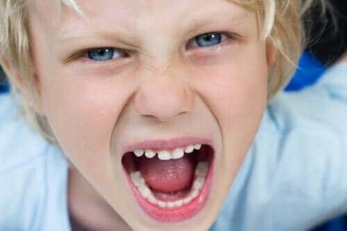 dreng der råber