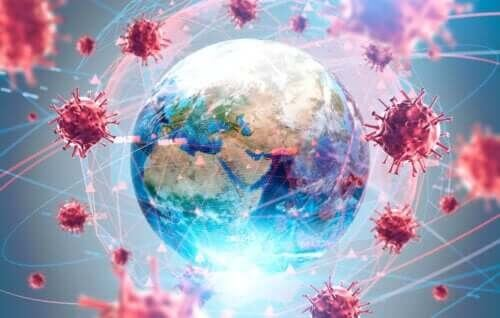 Coronavirussen har spredt sig til hele verden