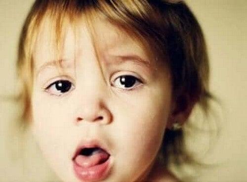 Barn har udviklet en hoste