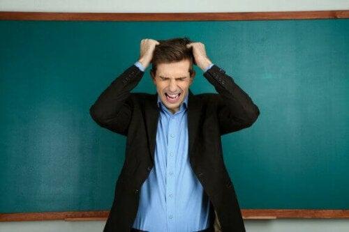 frustreret underviser