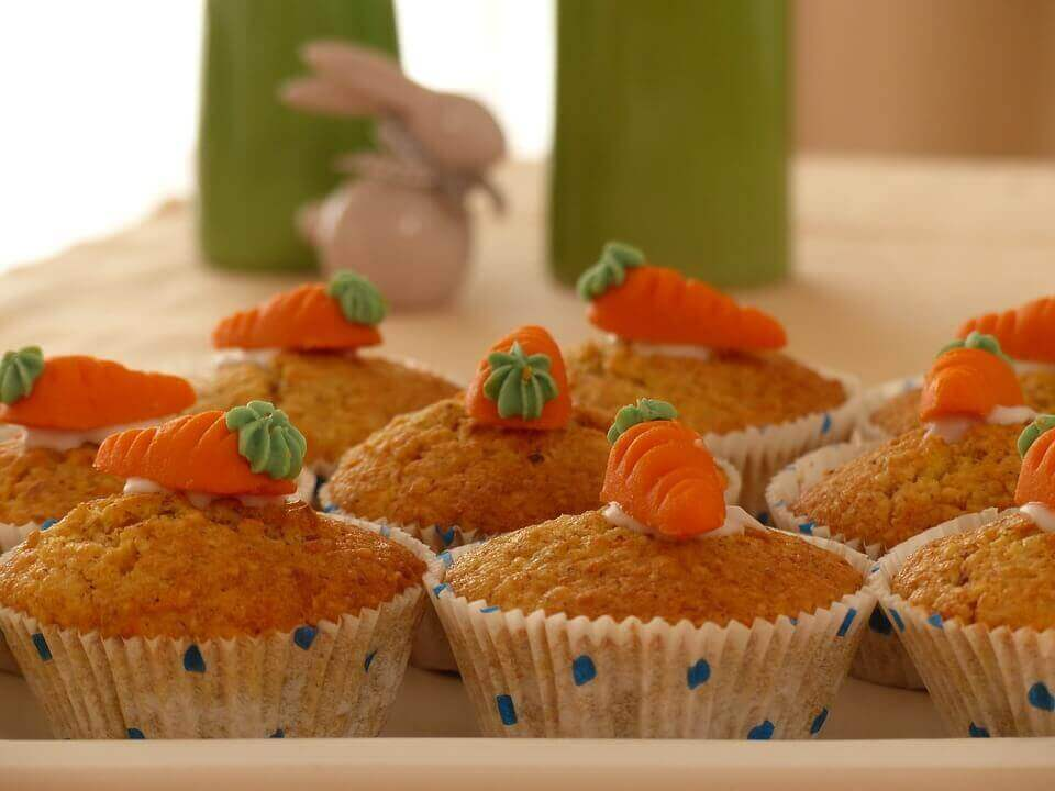Gulerodsmuffins.