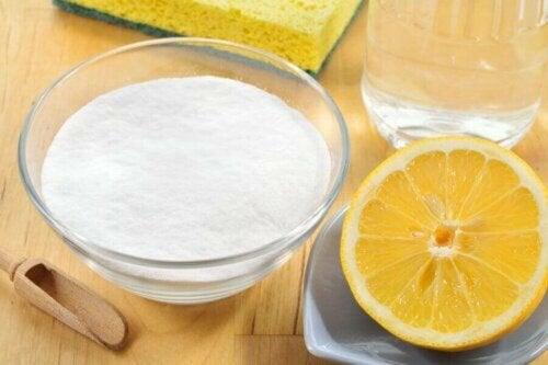 natron og citron til rengøring