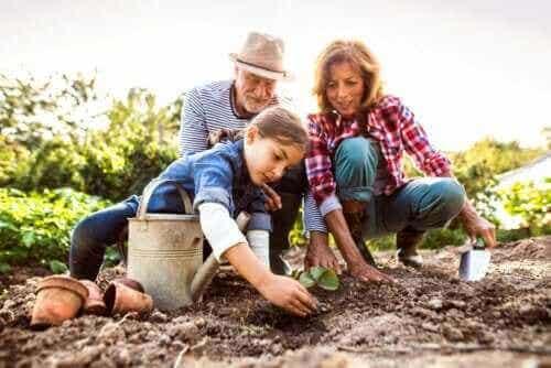 Hjælp børn med at huske deres bedsteforældre
