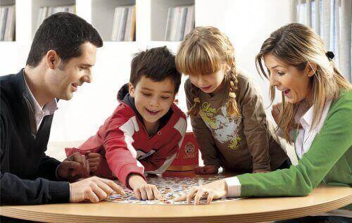 familie der spiller et spil