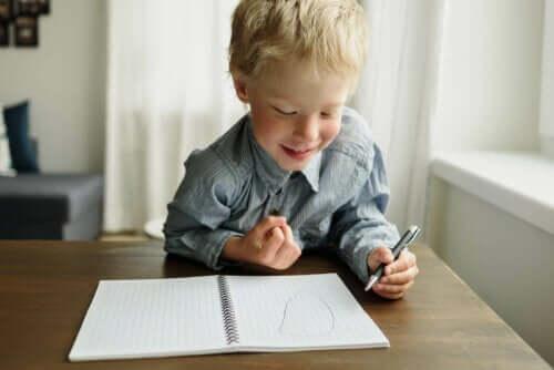 dreng der tegner