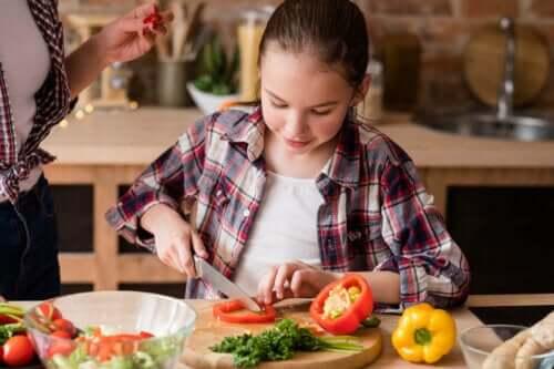 ung teenager der er veganer