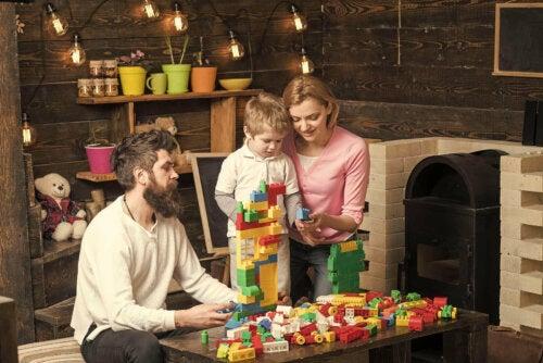 Familie der leger med Dublo