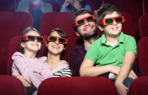familie i biograf