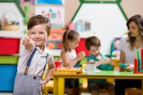 Børn under en legesession