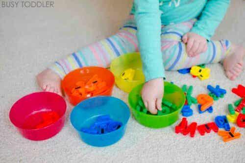 Montessori spil til børn fra 0 til 3 år